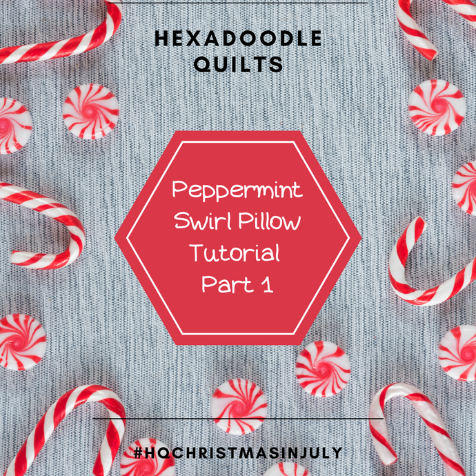 How to make a Peppermint Swirl Pillow - A VORTEX Block variation - Part One