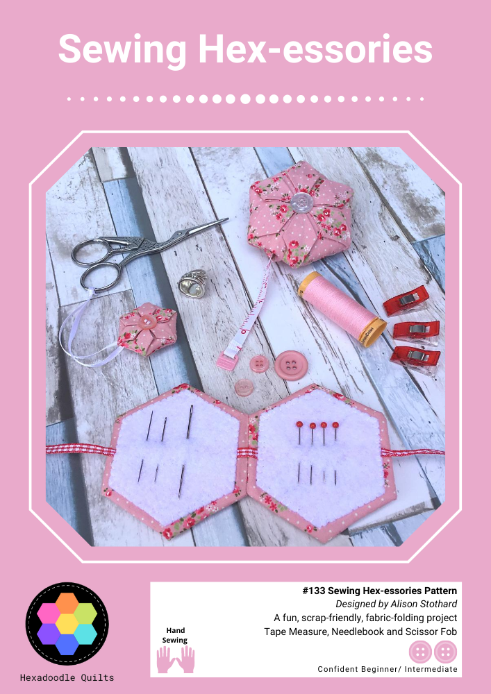 Sewing Hexessories pattern cover designed by Alison Stothard