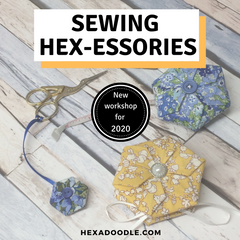 New Sewing Hex-essories Hexagami Workshop and Class from Alison Stothard/ Hexadoodle Quilts