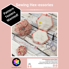 Instagram Post requesting pattern testers for Sewing Hexessories pattern
