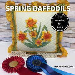 New for 2020 Spring Daffodils class by Alison Stothard for Hexadoodle Quilts