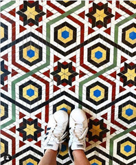 Image of tiled floor from @Ihavethisthingwithfloors on Instagram