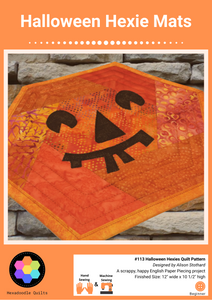 Halloween Hexagon Mats EPP Printed PAPER Pattern
