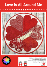 Load image into Gallery viewer, Love is All Around Me EPP Printed PAPER Quilt Pattern