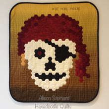 Load image into Gallery viewer, Skull Pirate Hexadoodle Quilt Chart Digital EPP Pattern