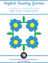 Load image into Gallery viewer, English Country Garden - Block 3 - Forget-me-not Wreath