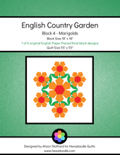 Load image into Gallery viewer, English Country Garden - Block 4 - Marigolds