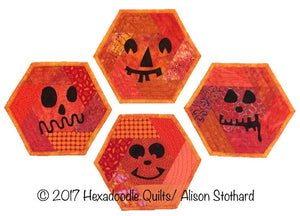 Halloween Hexie Mats Digital EPP Pattern