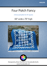 Load image into Gallery viewer, Four Patch Fancy PDF Quilt Pattern