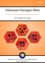 Load image into Gallery viewer, Halloween Hexagon Mats EPP PDF Pattern