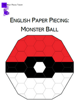 Load image into Gallery viewer, Monster Ball EPP PDF Quilt Pattern