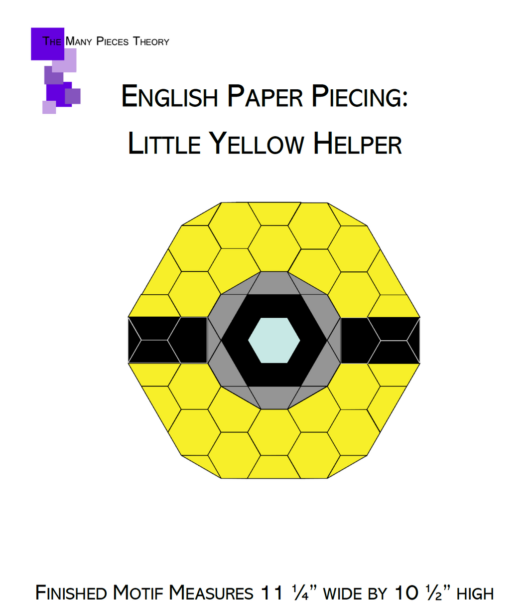 Little Yellow Helper EPP PDF Quilt Pattern