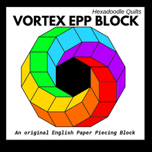 Load image into Gallery viewer, VORTEX Block Paper Pieces + PDF Pattern Bundle