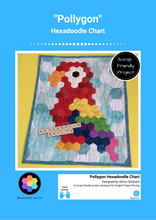 Load image into Gallery viewer, Pollygon Hexadoodle EPP Hexagon Quilt Chart PDF Pattern