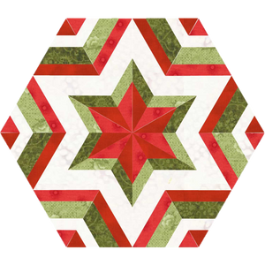 Fractured Star - FPP Quilt Block - PDF Pattern