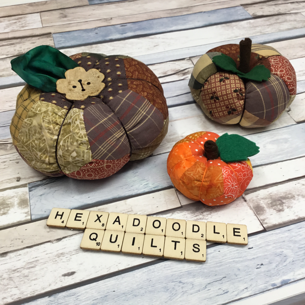 English Paper Pieced EPP Pumpkin Family Templates - Print at Home