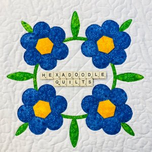 English Country Garden - Block 3 - Forget-me-not Wreath