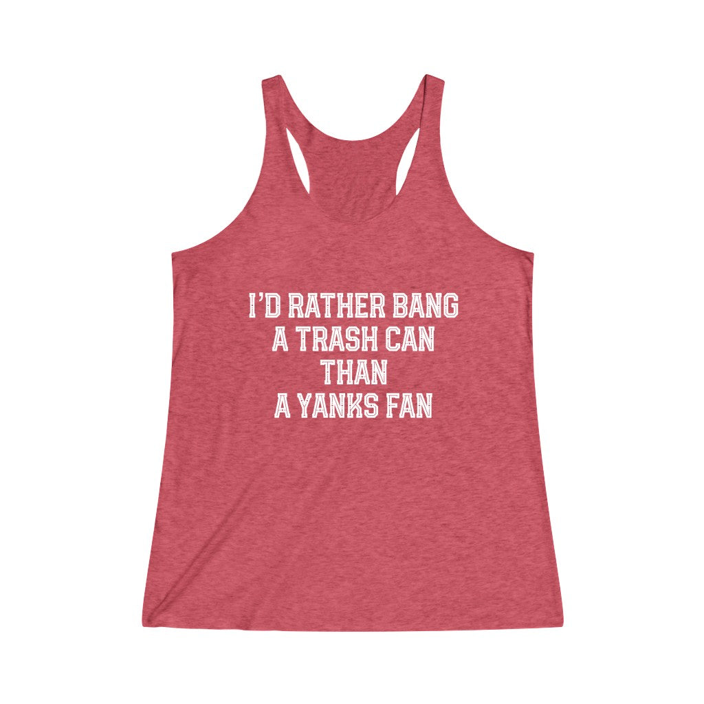I'd Rather Women's Tri-Blend Racerback Tank