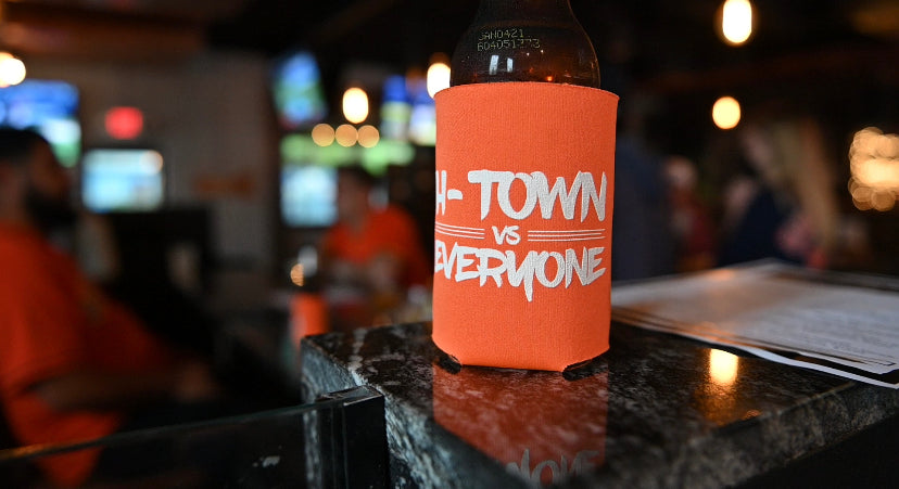 H-Town vs Everyone Koozie