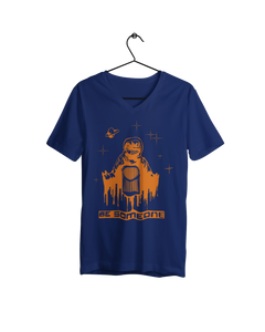 Be Spaceman Women's Navy V-Neck (Local)