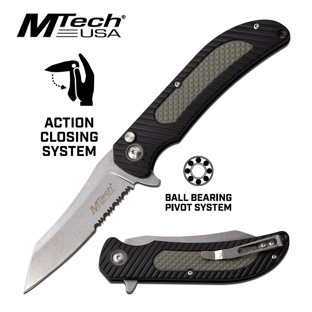MTech Black Folding Knife | MT1041GY