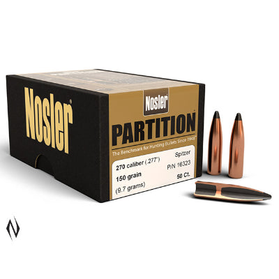 Nosler 270 Cal 150gr Partition Projectiles (50pk)