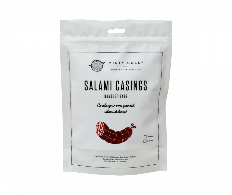 Misty Gully Banquet Bags Salami Casings – 50mm (5m length)