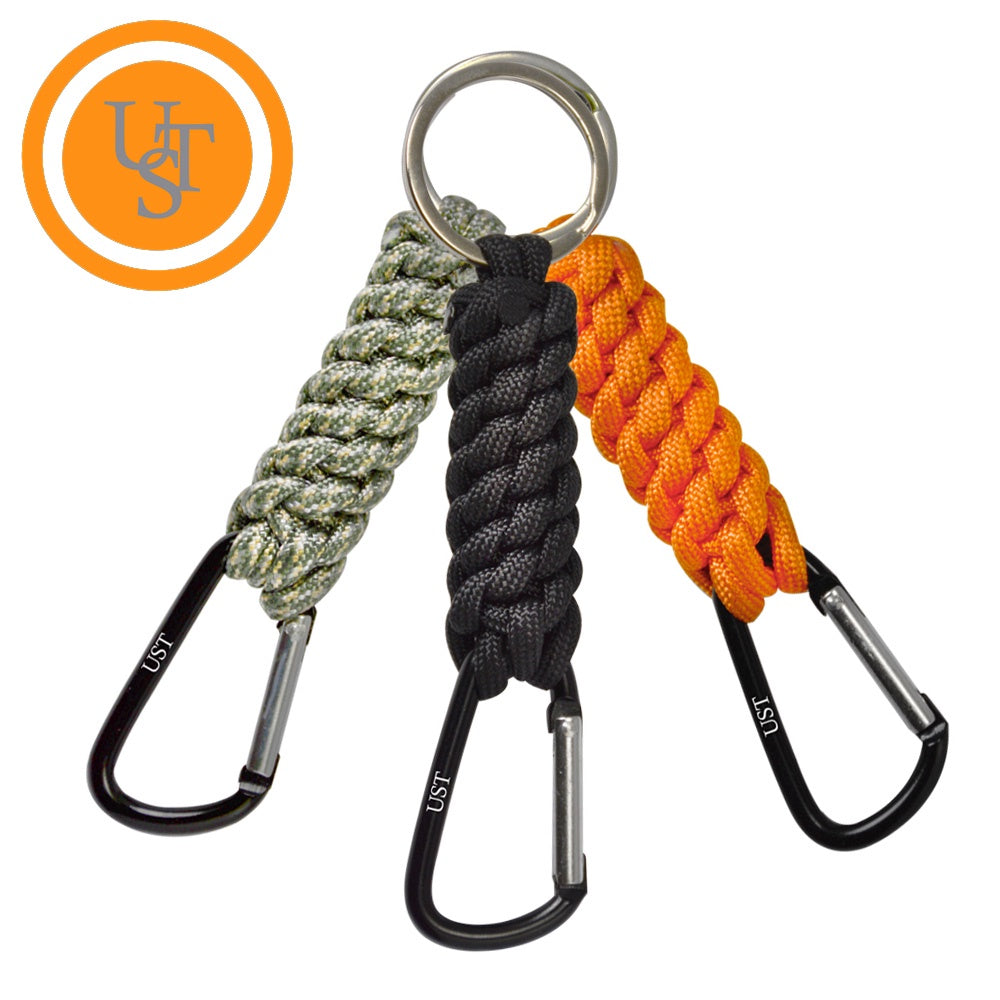 UST Paracord Keyrings with Carabiner