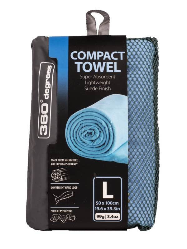 360 Degrees Compact Towel L | Blue