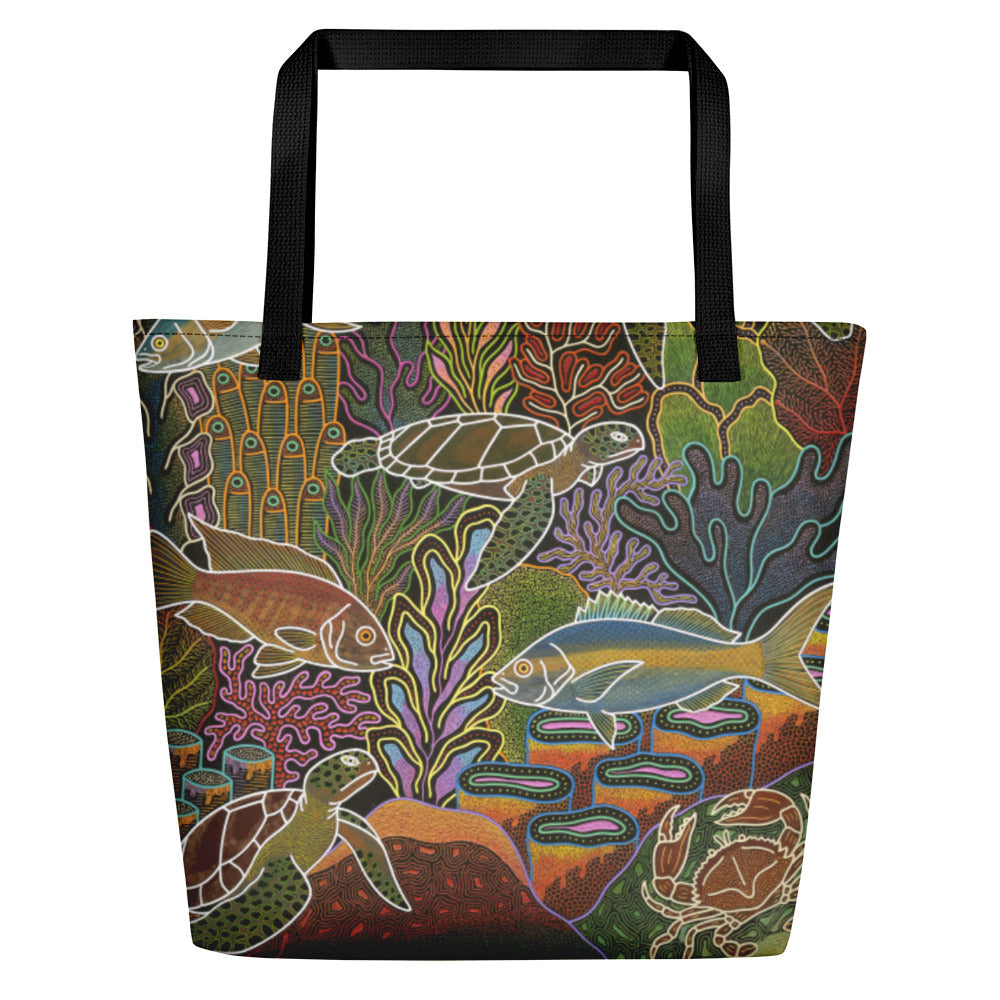 Electric Sea Beach Bag
