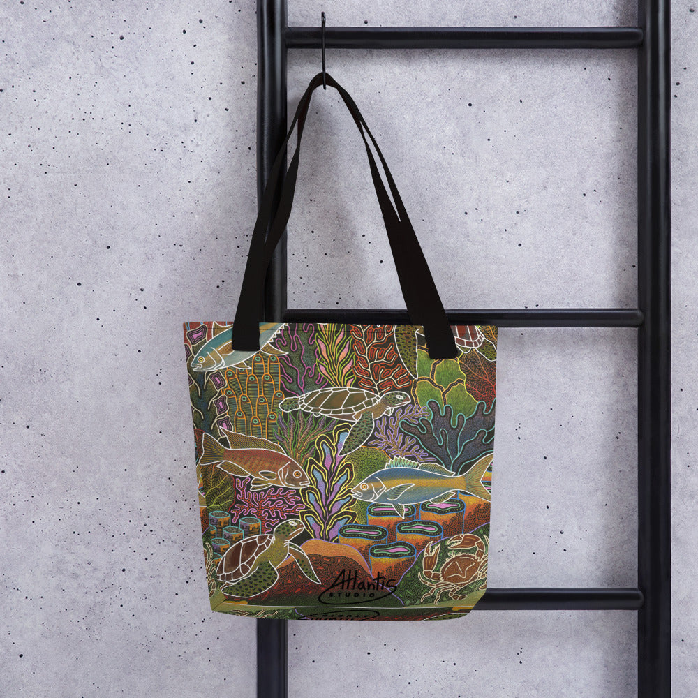Electric Sea Tote bag
