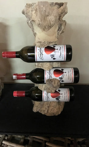 wine bottle holder - 4 bottle - coffeetree wood