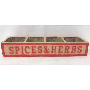 Spices & Herbs Box - Red