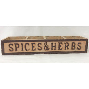 box - spices & herbs - box of 4 - brown