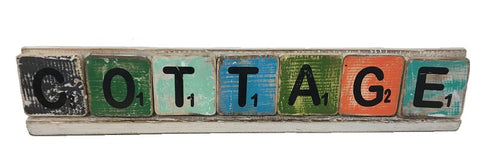 scrabble letters - cottage
