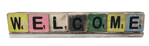 scrabble letters - welcome