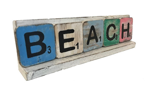 scrabble letter - beach - mix colour
