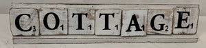 scrabble letters - cottage - whitewash