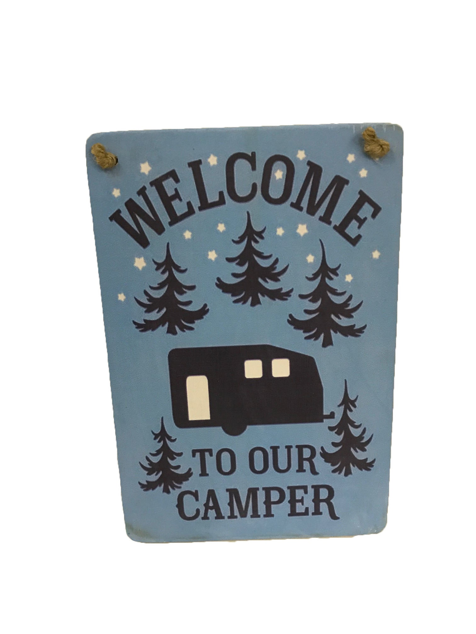 sign - welcome to our camper - 20cm x 30cm