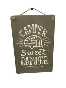 sign - camper sweet camper - 20cm x 30cm