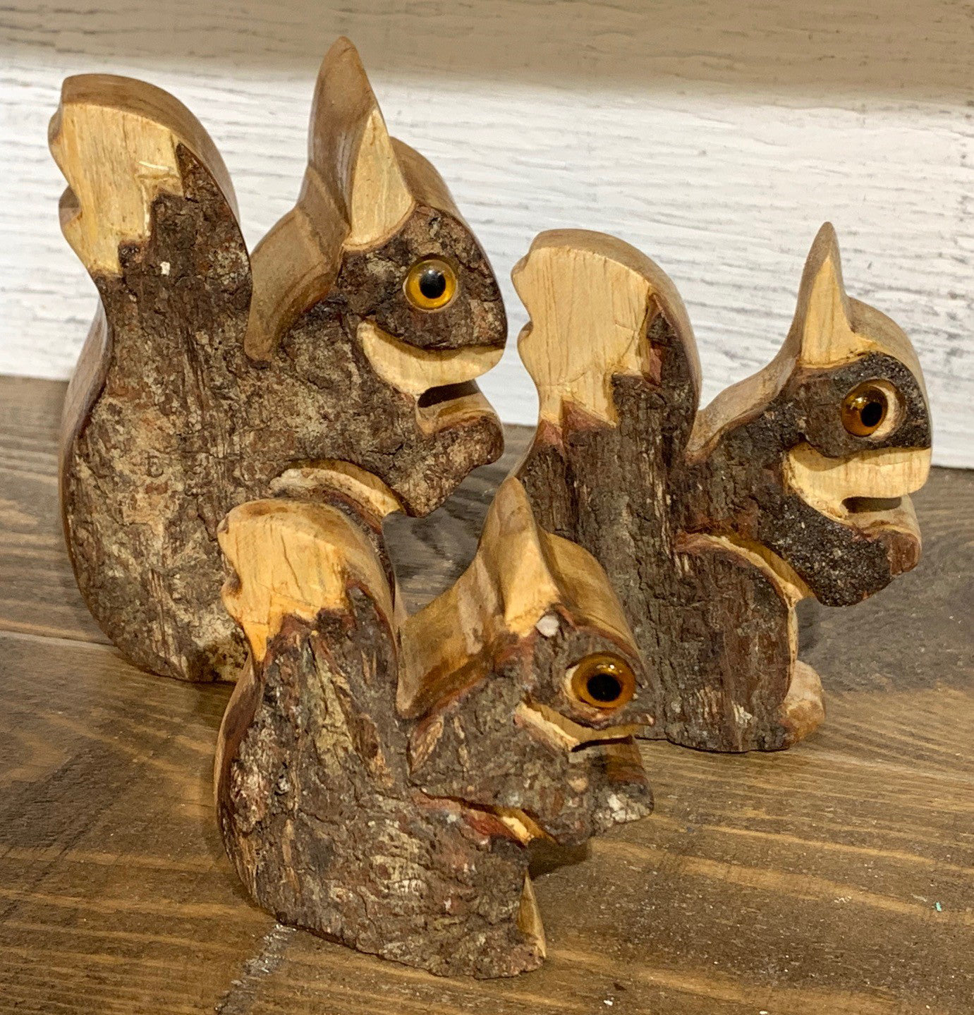 squirrel - SET OF 3 - jampanis wood