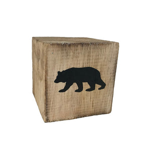block - woodland - bear - natural/black - 8cm