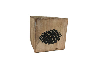 block - woodland - pinecone - natural/black - 8cm