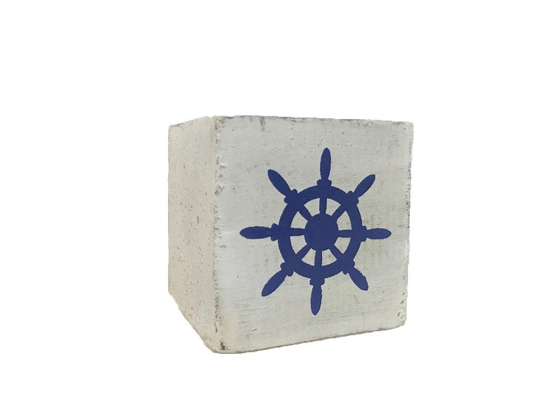 Nautical Steering Wheel Block