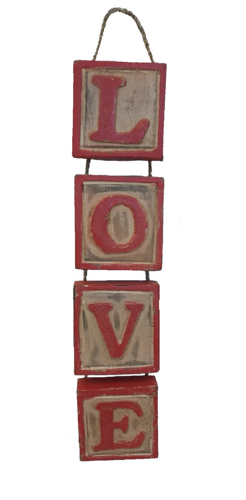 hanging - blocks - love - red
