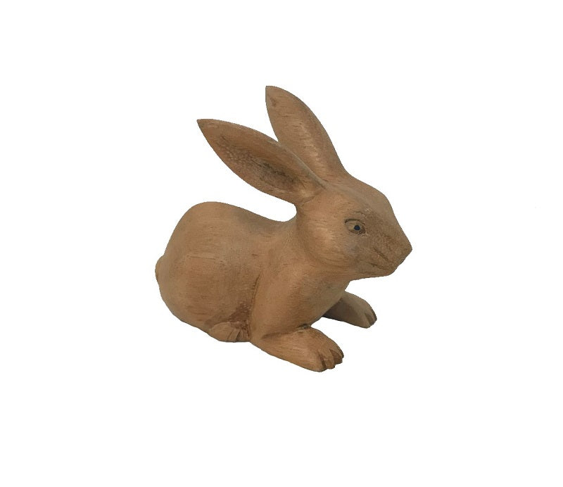 rabbit - sitting/ears up - 10cm - natural