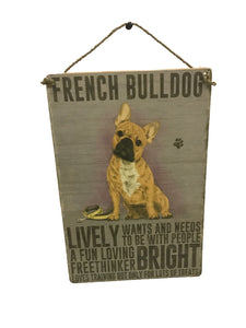 French Bulldog Sign