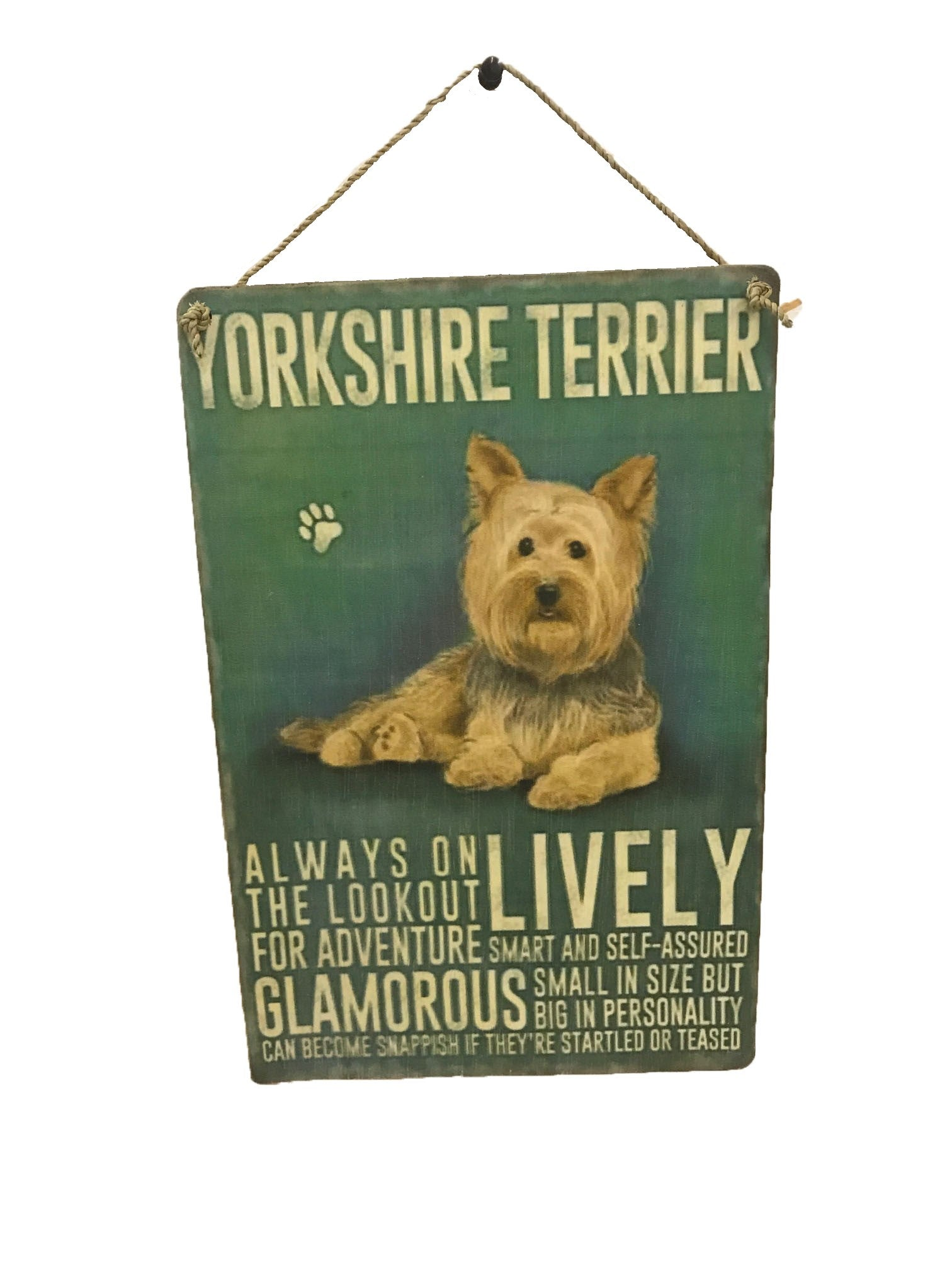 sign - dog - yorkshire terrier - 20x30cm
