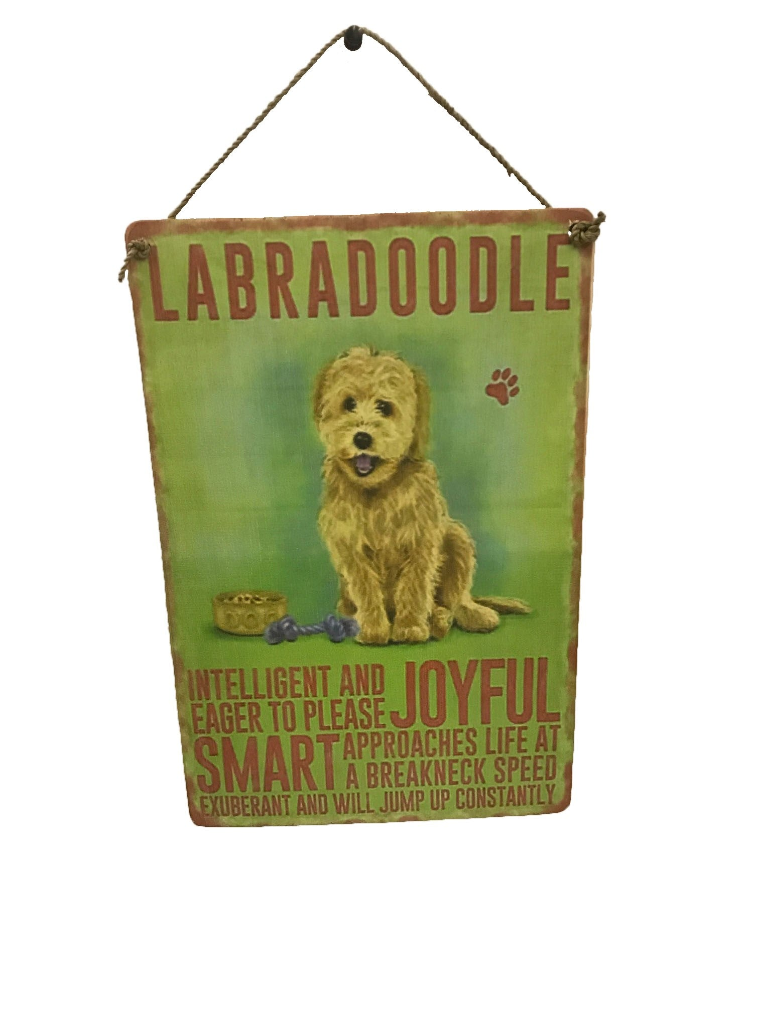 sign - dog - labradoodle - 20x30cm
