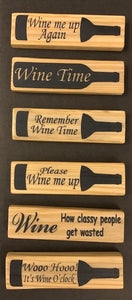 magnet - wine - rectangle - remember wine time